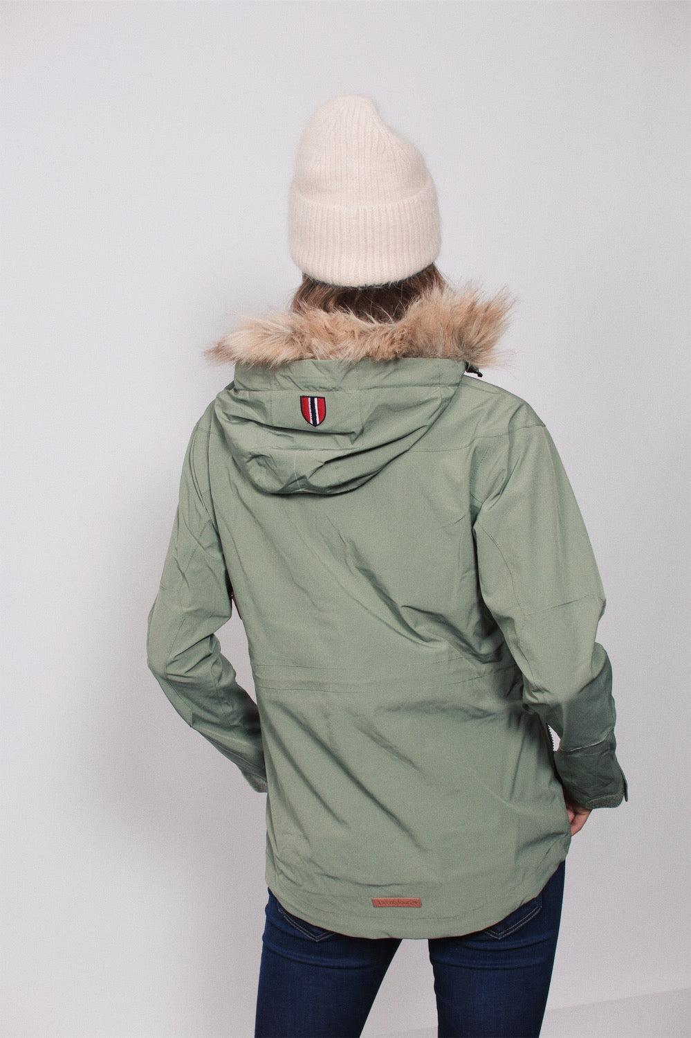 Twentyfour Finse 2 lags jakke, støvgrønn