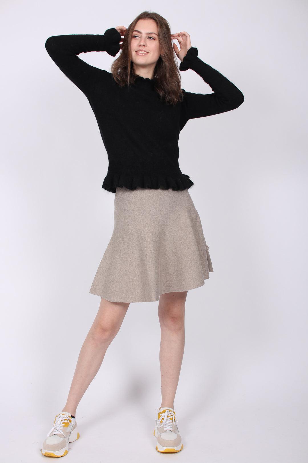 Ella & il | Triny Merino Skirt Beige | VILLOID.no