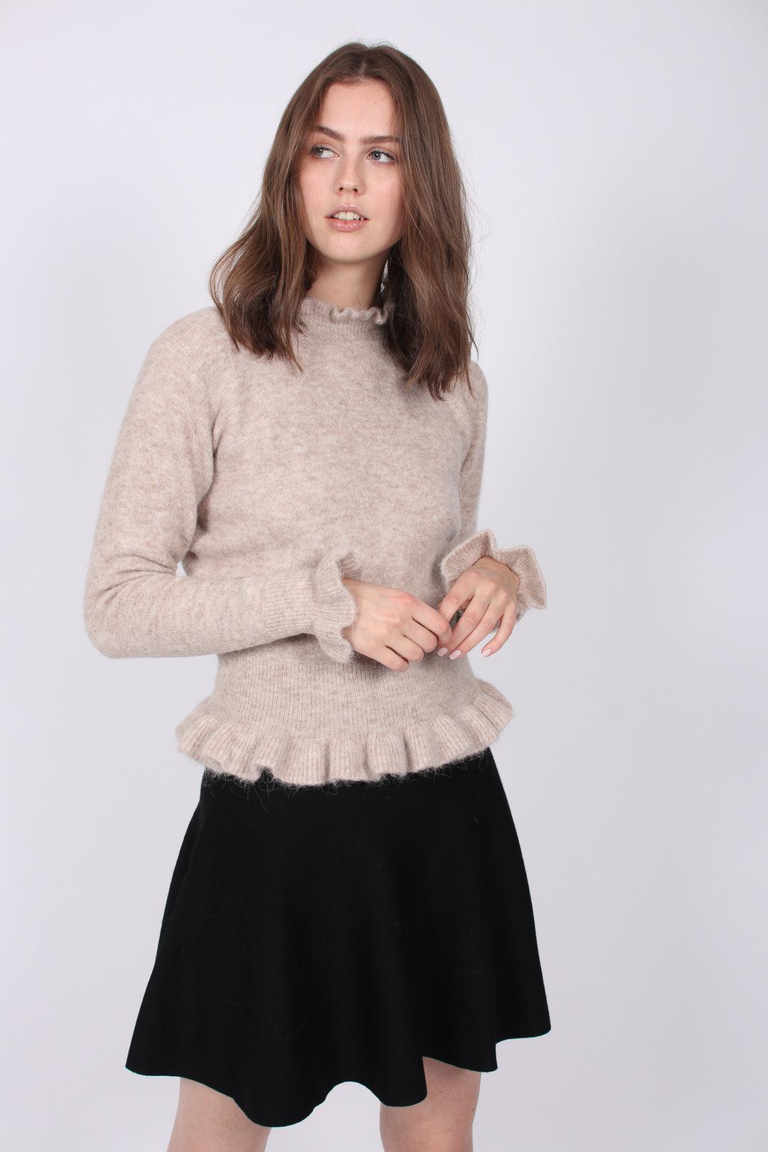 Ella & il | Triny Merino Skirt Black | VILLOID.no