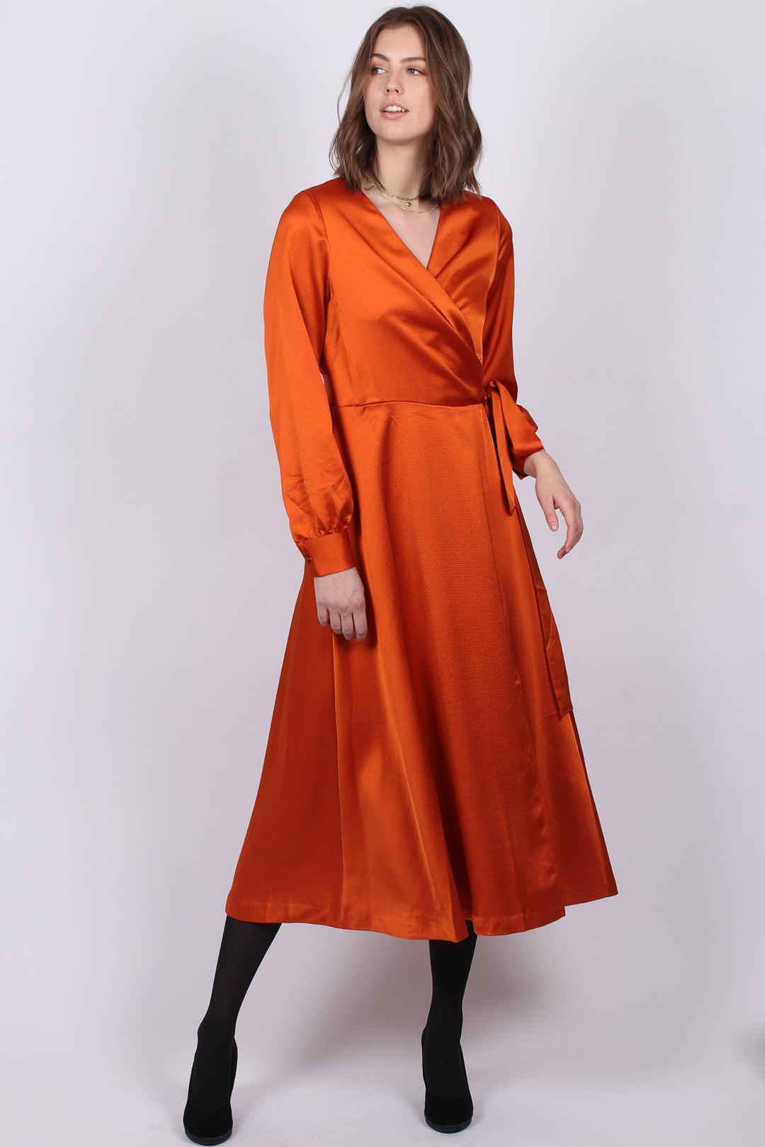 MAUD Wrap Dress oransje kjole